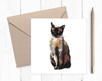 Cat Blank Greeting Card, cat card, blank card, any occasion, ideal for cat lovers