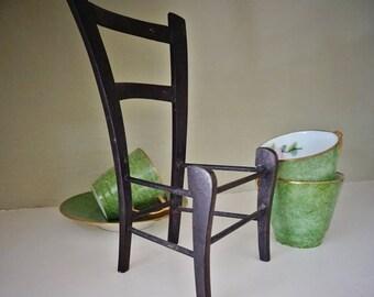 Charles Rennie MacKintosh Style, Apprentice Piece, Artist Degree Piece, Miniature Chair, Dolls Furniture, Wall Art