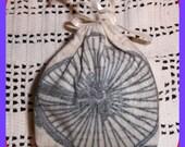 LAVENDER Sachet, Linen, Old Unicycle, Organic Lavender Flowers, Boudoir, Scented Standing Hanging Bag