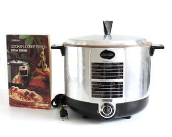 Vintage Sunbeam Deep Fryer Cooker TCF-6 Small Appliance