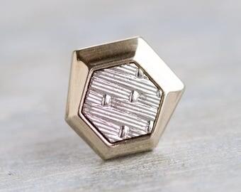 Art Deco Tie pin - Vintage Silver Tie Tac