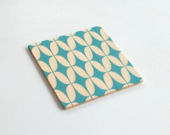 Objectify Retro Green Star Coasters - Set of 4