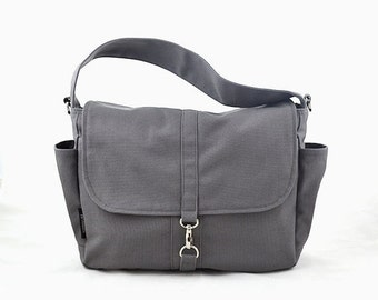20% Valentine Sale VESTER // Grey / Lined with Beige / 101 // Ship in 3 days // Messenger / Diaper bag / Shoulder bag / Tote / Canvas Bag /