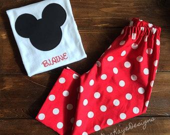 Custom red Mickey Mouse pajamas