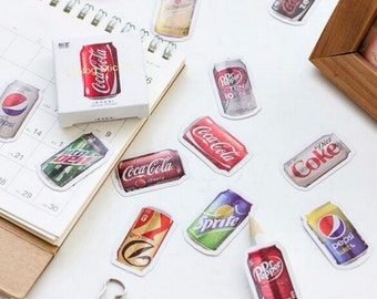 45 PCS Soda Stickers - Perfect for Planner PaperClip Bookmarks and Scrapbook Cell Phone Case Embellishment
