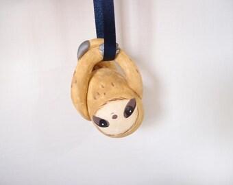ooak Hand-made sloth ornament 46