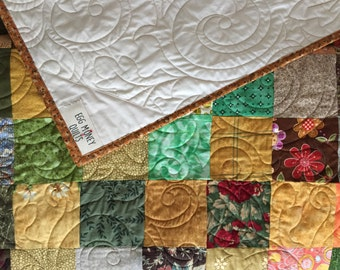 Fall Quilts - Queen Quilts - Patchwork Quilts -  Queen size Quilts - Handmade Quilts - Traditional Quilts - Queen Blankets - Autumn Quilts 3