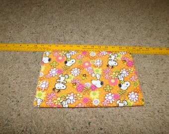 Snoopy Floral  Fabric  1 yard and 7 inches  Sewing Quilting Crafting  Sale Destash Stock Up