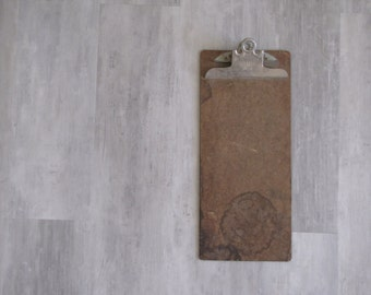 Vintage Brown Clipboard  - repurposed display, photo display