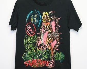 Stone Temple Pilots Shirt Vintage tshirt 1993 Core Concert tee 1990s Dean DeLeo Eric Kretz Scott Weiland Robert DeLeo Grunge Funk Rock 90s