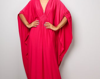Kaftan, Kimono, Kaftan dress, Plus size dress, Maxi dress, Long pink dress, hot pink dress : Funky Elegant Collection No.1s