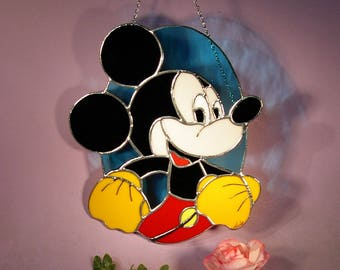 Stained Glass Mickey Mouse  Suncatcher (805)