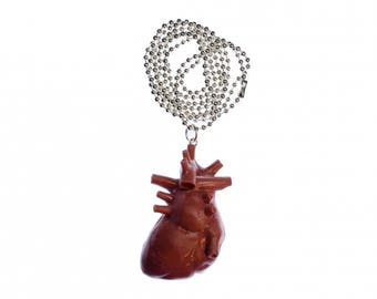Heart Necklace Miniblings 80cm anatomy medicine organ innards man XL