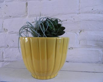 Vintage Frankoma 176 Planter - Mustard Yellow