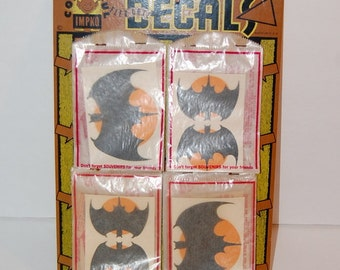 1960's Impko Batman Decals Vintage Transfer 40 Bat Decals Fun Novelty Original on Display Board