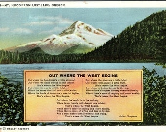 Mt. Hood, Oregon, Lost Lake - Linen Postcard - Postcard - Unused (C1)