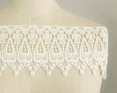 Mary Kate Ivory Venice Lace for Bridal Gowns / Home Decor / Luxurious Lace Trim / Christening / Victorian English Fringe Lace Trim