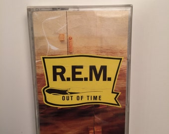R.E.M. Out Of Time cassette tape