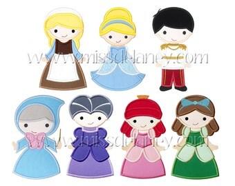 Cinderella Applique Designs