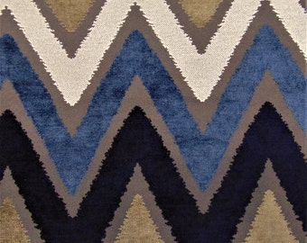 Maldives Blues Boho Zen Earthy Abstract Ikat Beach Repeat Pattern Lines Resort Modern Fabric Upholstery Drapery Curtains