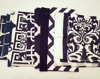 60% OFF! Fabric Scraps SALE- Premier Prints Fabric Remnants- Navy Home Decor Fabric- DIY- Upcycle Projects- Navy Blue Destash, Swatches