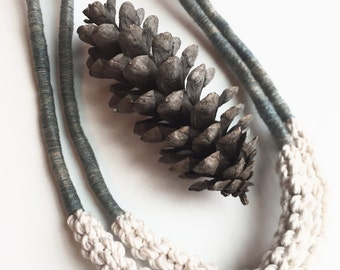 Mila. Knotted Cotton Statement Necklace.