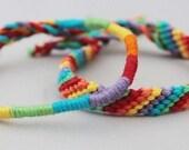 Regenboog vriendschapsarmbandjes, kleurrijke armbandjes, leuke schoencadeautjes
