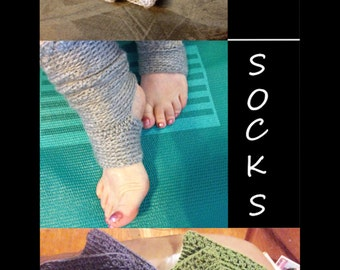 Crocheted Yoga Socks - Dance Warmers - Pilates Socks -  Athletic Socks - Exercise Socks - Leg Warmers - Gift For Her