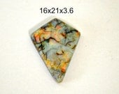 Sterling Opal square cabochon. 16 x 21 x 3.6