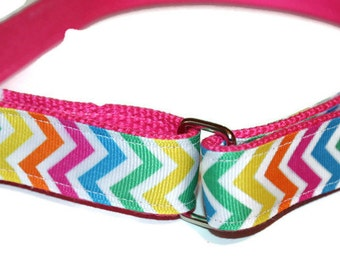Girls Velcro Belt Rainbow Velcro D Ring Belt Hot pInk Girl Belt Little Girl Belt Rainbow D Ring Children's Belt