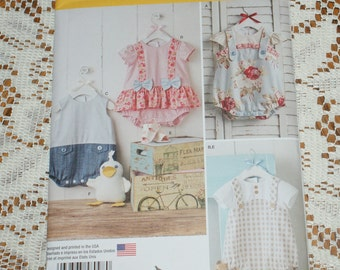 New Simplicity Baby Boy and Girl Rompers Sandals and Stuffed Duck  Pattern 8098 A Size xxs to l