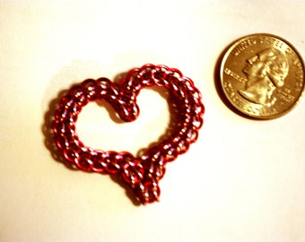 Valentine Heart, Chainmaille Heart, Lover's Heart, Red Heart, Pink Heart, Green Heart, Two Toned Heart, Custom Available
