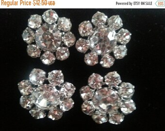 Christmas Sale Wedding Accessories Flower Rhinestone Buttons ** Bridal Bouquet Crystal Buttons