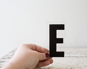 Vintage Letter E - Black Marquee Plastic Letter E Vintage Marquee Sign Vintage Sign E Sign