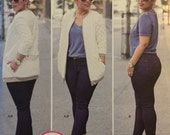 Simplicity 8222, Size 6-8-10-12-14, Misses' Knit Jacket and Stretch Jeans Pattern, UNCUT, Mimi G Style, Zipper Front Jacket, Easy To Follow