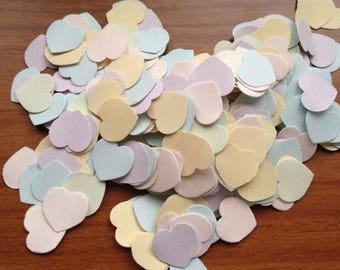 Over 1500 pcs Confetti tiny pastel heart 1 centimater