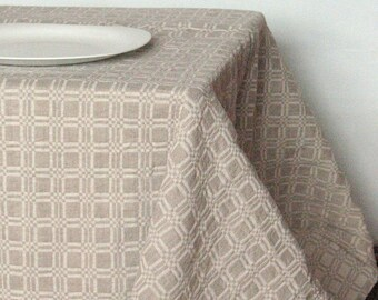 """Linen Tablecloth Tablecloths Linen Gray Washed Linen Table Gray Tablecloth Large Tablecloth Linen Table Cloth Square Tablecloth 75"""" x 59"""""""