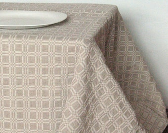 """Linen Tablecloth Tablecloths Linen Gray Washed Linen Table Gray Tablecloth Large Tablecloth Linen Table Cloth Square Tablecloth 90"""" x 58"""""""
