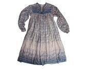 Beautiful Baby Blue Indian Gauze Dress