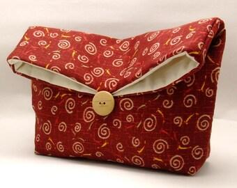 Foldover clutch, Fold over bag, clutch purse, evening clutch, wedding purse, bridesmaid gifts - Japan pattern (Ref. FC76)