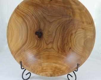 Beautiful American Elm Bowl, Food Safe, Lathe Turned