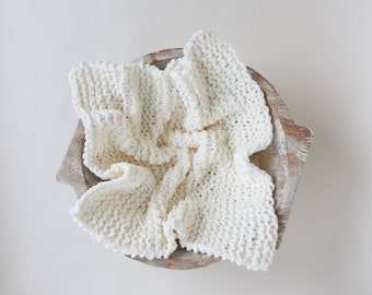 Ivory Chunky Basket Stuffer, for boys of girls handmade, newborn posing, photographer prop, Lil Miss Sweet Pea Boutique