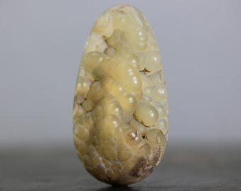 Fossilized Coral Fossil Druzy, Botryoidal Drusy Gemstones Extra large, Flat Back Cabochon - Statement Pendant (CA7648)