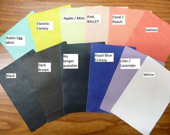 Leather 10 sq ft!! PLONGE line Select from 10 Colors Cowhide THIN PeggySueAlso™