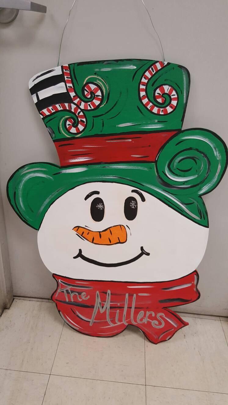 extra large snowman door hanger snowman winter door hanger holiday door decor wreath sniwman wreath