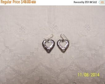 EVERYTHING 20% OFF, Vintage Scroll Dangle earrings. Sterling Silver.