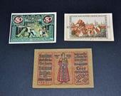 3 German Notgeld banknotes 1921-1922 lot 7 almost uncirculated
