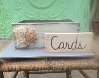 Shabby Chic Wedding Cards Box, Wooden Wedding Cards Holder, Shabby Chic Wedding Decor