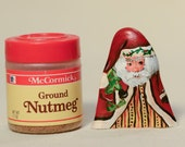 Tiny Cypress Knee Santa Handpainted