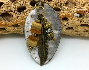 Vintage Spoon Pendant   Boho Pendant  Flatware Jewelry  Spoon Jewelry  Charm Pendant  item 806